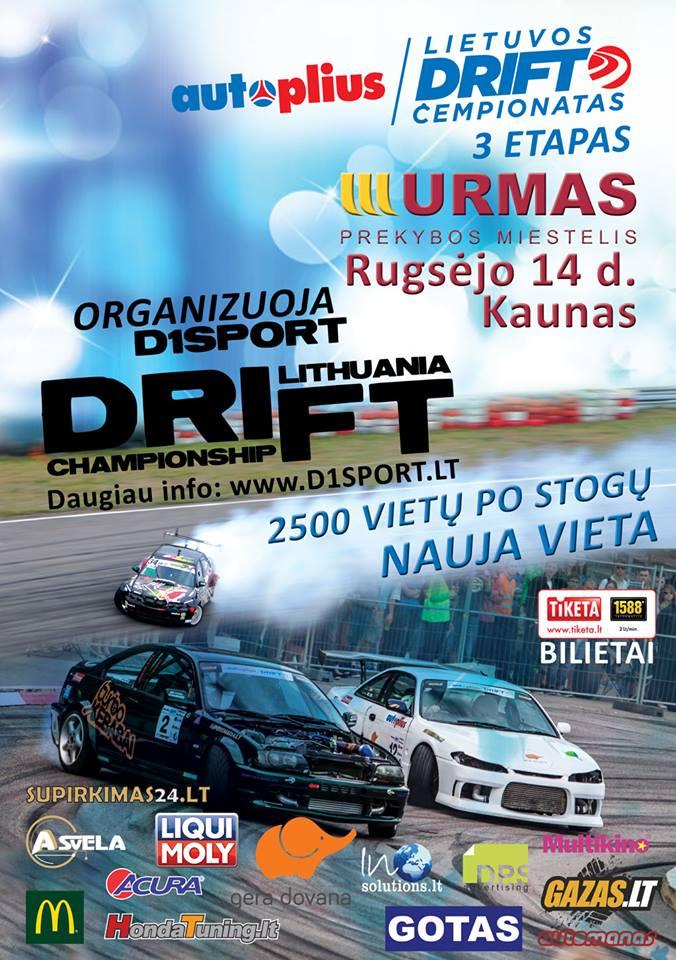 Autoplius Lietuvos driftingo čempionato 3 Etapas